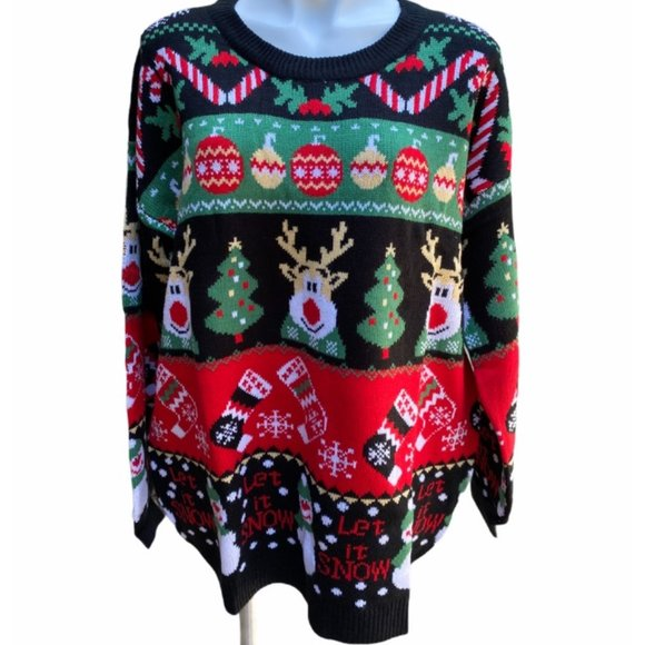 V28 Ugly Christmas Sweater XXL NWT